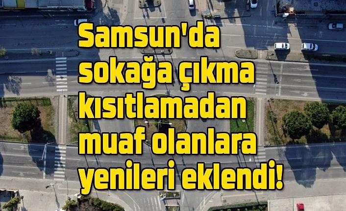 Sokağa çıkma kısıtlamadan muaf olanlara yenileri eklendi - Samsun Haber