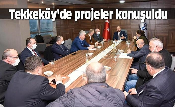 Tekkeköy Belediyesi'nde  2021 projeleri konuşuldu