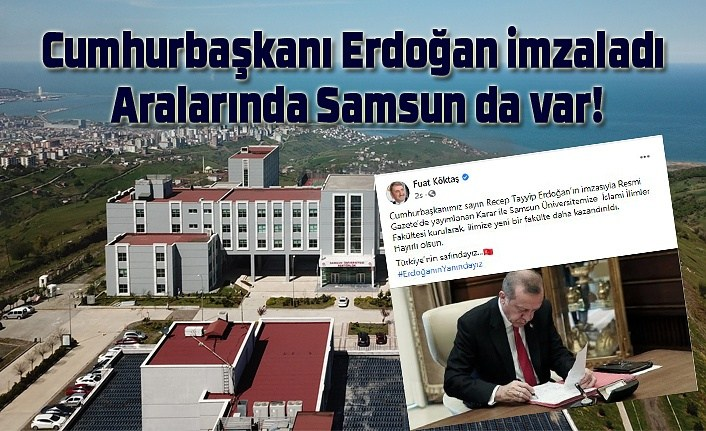 İslami İlimler Fakültesi Samsun'da kuruldu, Samsun Üniversitesi İslami İlimler Fakültesi