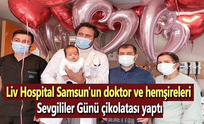 Liv Hospital Samsun'un doktor ve hemşireleri Sevgililer Günü çikolatası yaptı