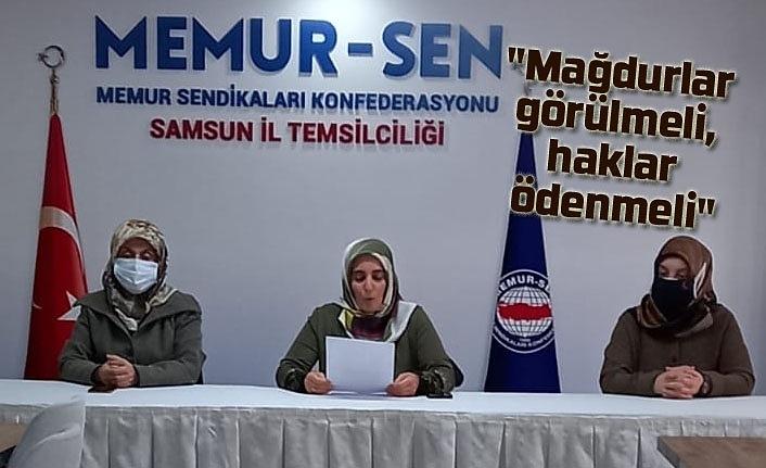 Memur-Sen Kadınlar Komisyonu: 28 Şubat Mağdurları görülmeli, hakları ödenmeli