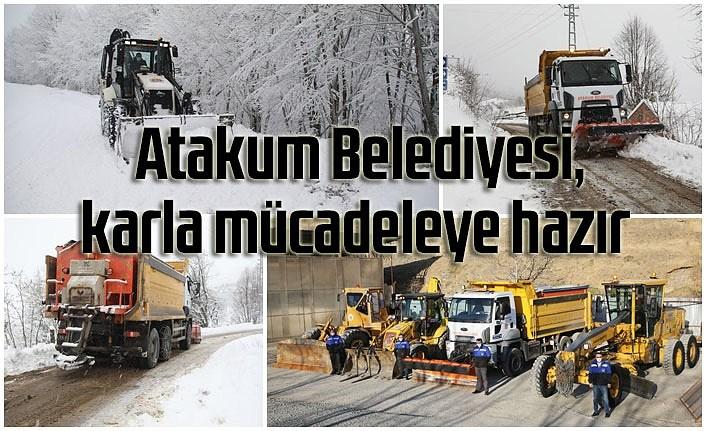 Samsun'a kar geliyor, ekipler hazırlıklarını tamamladı