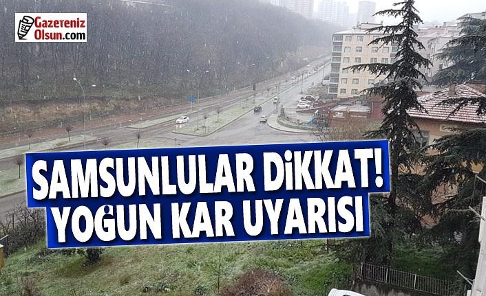 Samsun'da Kar Yağışı Başladı, Samsunlular Dikkat Yoğun Kar Geliyor!