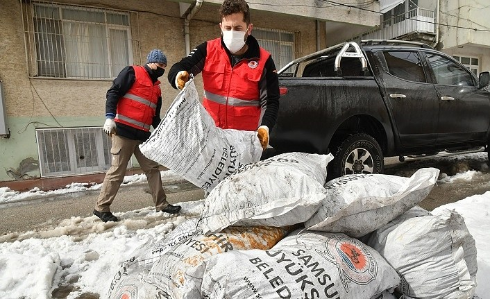 Samsun'da yılın ilk 2 ayında 750 aileye kömür yardımı