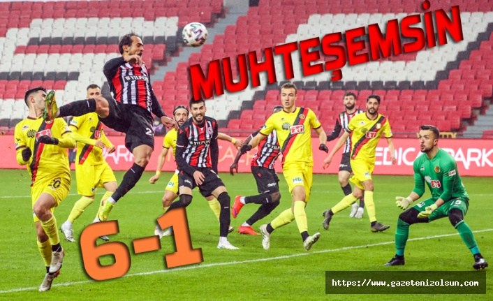 Samsunspor Eskişehirspor maç sonucu: 6-1 Samsunspor Puan Durumu