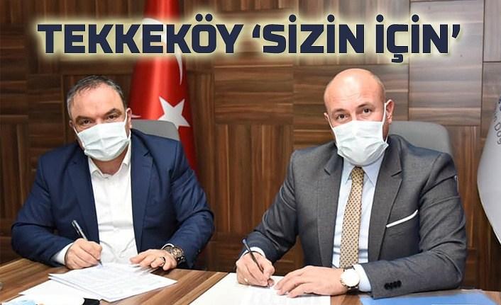 Tekkeköy'de imzalar atıldı, bir çok mahalleye doğalgaz geliyor