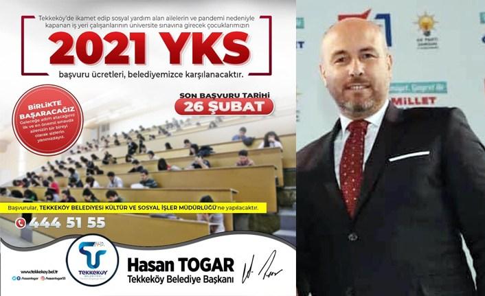 Tekkeköy Belediyesi'nden YKS desteği - Başkan Togar : Ailenizin bir bireyi olarak sizlerin yanındayız