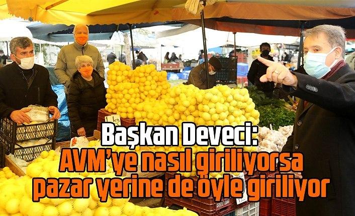 Atakum'da pazar yerlerine HES kodu ile giriliyor