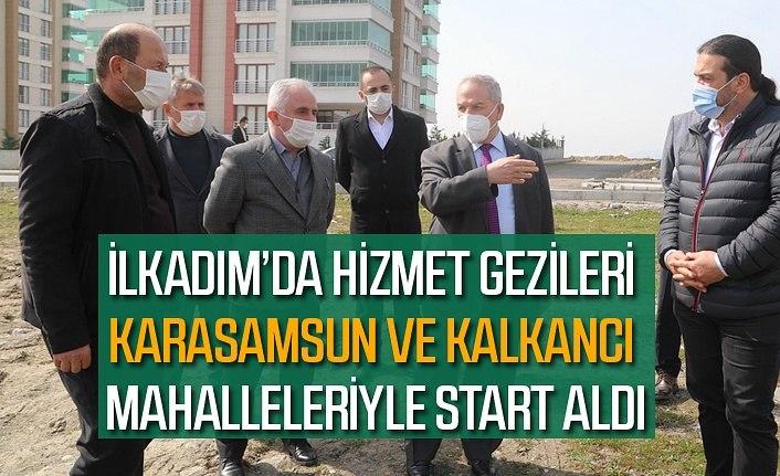 Başkan Demirtaş mahalle muhtarları ile sorunları yerinde inceliyor