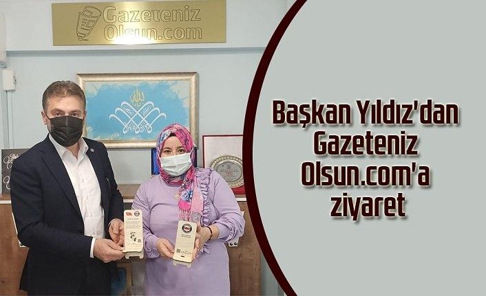 Başkan Yıldız'dan Gazeteniz Olsun'a ziyaret