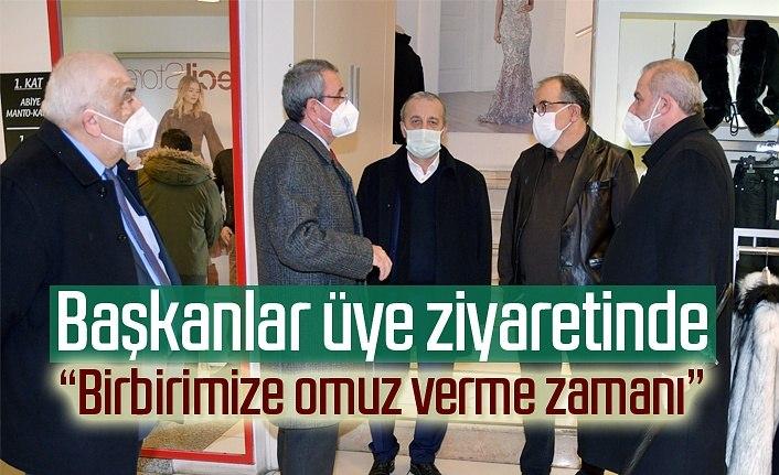 Başkanlar üye ziyaretinde