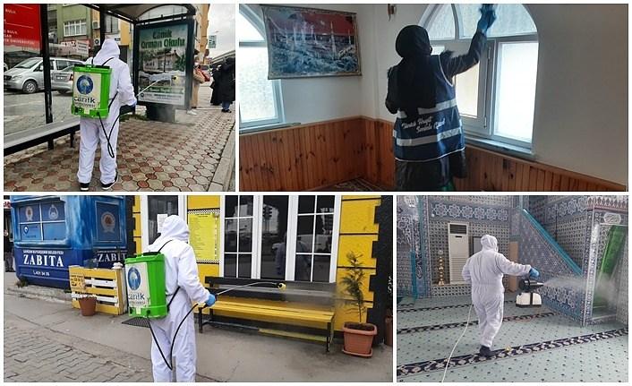 Canik Belediyesi salgın hastalıkla mücadeleden asla taviz vermiyor