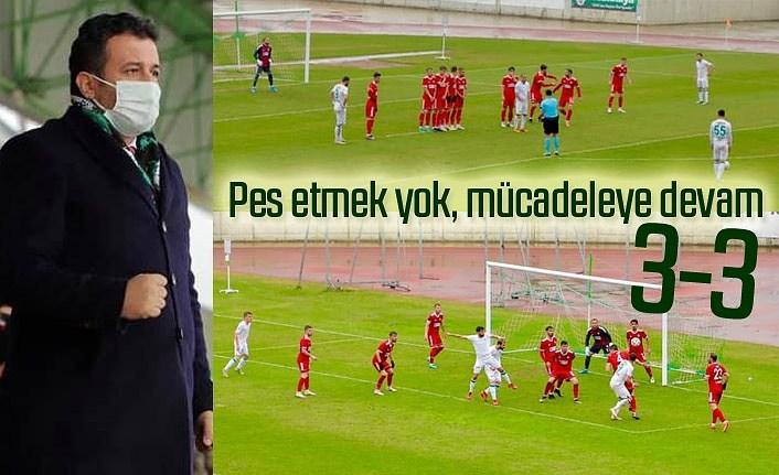 Çarşambaspor Somaspor maç sonucu : 3-3