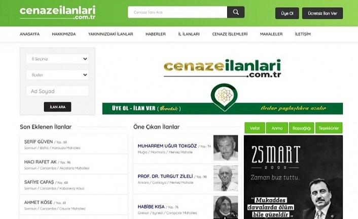 Cenaze İlanları web sitesi yayın hayatına başladı