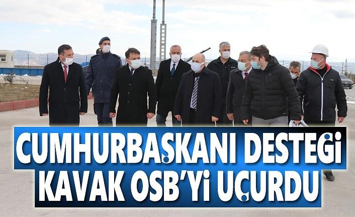 Cumhurbaşkanı Desteği Kavak OSB'yi Uçurdu