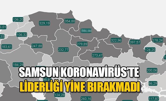 Haftalık vaka sayısı haritası güncellendi, Samsun'da korkutan artış
