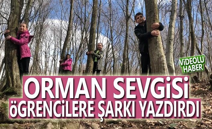 Öğrenciler orman sevgisini rap söyleyerek anlattı