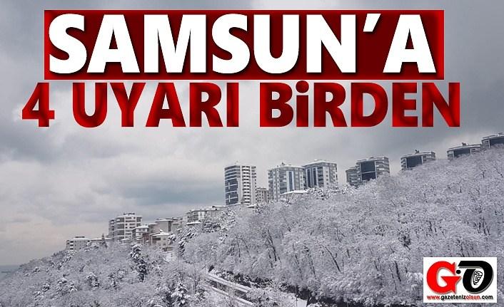 Samsun'a Kuvvetli Yağış, Yüksek Kesimlere Yoğun Kar Yağışı