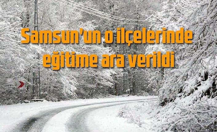 Samsun'da eğitime kar tatili! Hangi ilçelerde eğitime ara verildi!