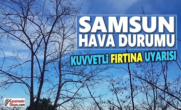 Samsun'da Kuvvetli Fırtına ve Sağanak Yağış Uyarısı