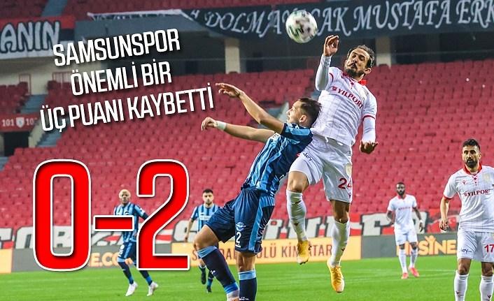 Samsunspor Adana Demirspor maç sonucu: 0-2 Samsunspor Puan Durumu
