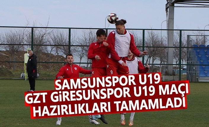 Samsunspor U19, GZT Giresunspor U19 Maçı Hazırlıkları Tamamlandı