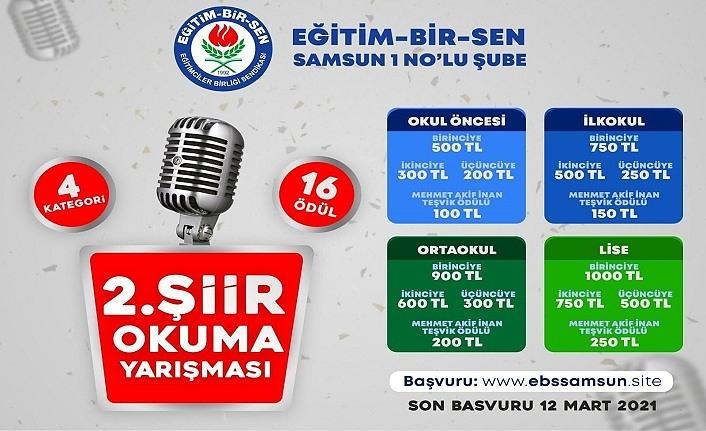 Şiir Okuma Yarışmasına kardeş ülke Azerbaycan'dan büyük ilgi!