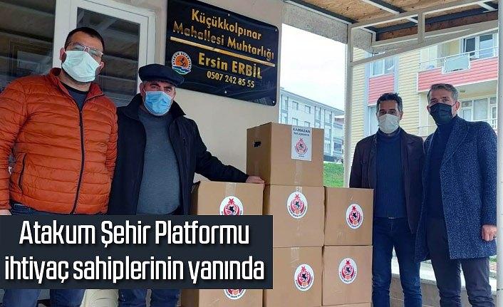 Atakum Şehir Platformu'ndan bin 555 aileye erzak