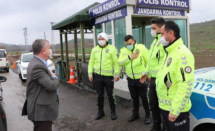 Başkan Özdemir'den polislere ziyaret