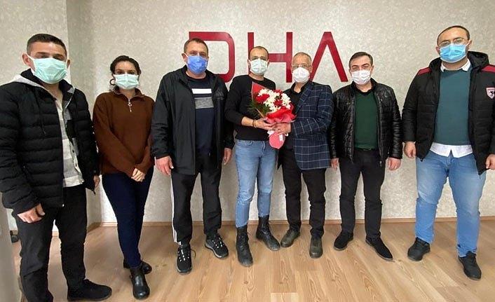 DHA Samsun Bürosu'nda değişim, Cemiyet'ten Kara'ya kutlama