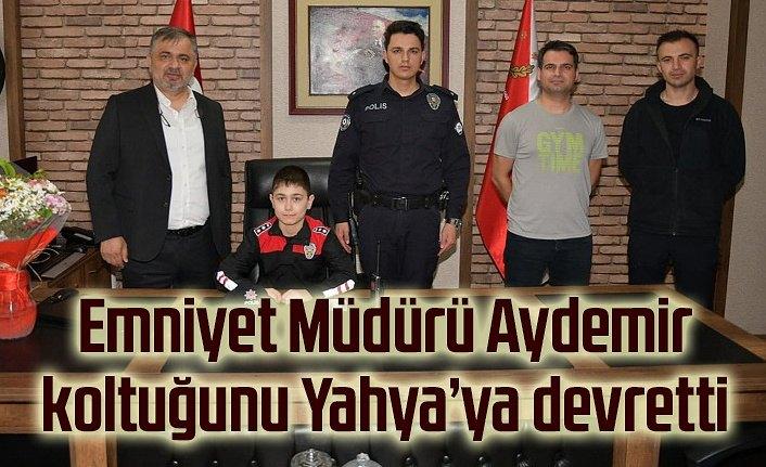 Emniyet Müdürü Aydemir, koltuğunu Yahya'ya devretti