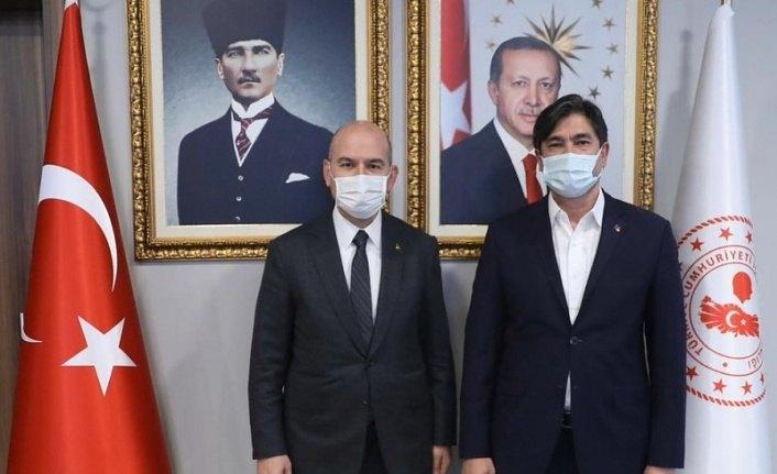 Genel Başkan Uslu'dan Bakan Soylu'ya ziyaret