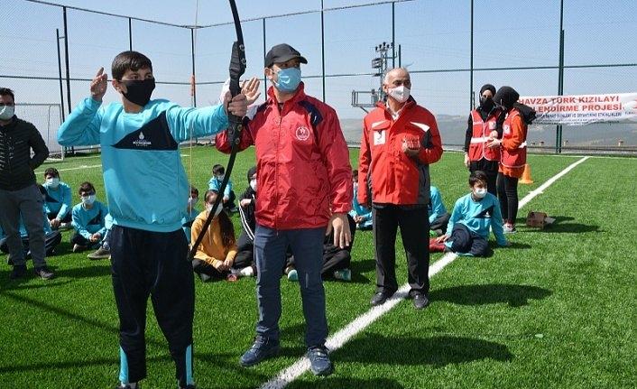Havza Çakıralan'da Kızılay ile spor ve sanat günleri