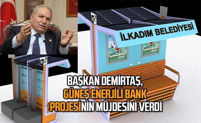 İlkadım Belediyesi'nden Güneş Enerjili Şarj Bank, Wi-Fi de ücretsiz olacak