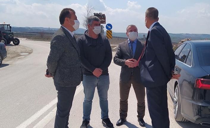 Karayolları Bölge Müdürü Silov Havza'da talepleri yerinde inceledi