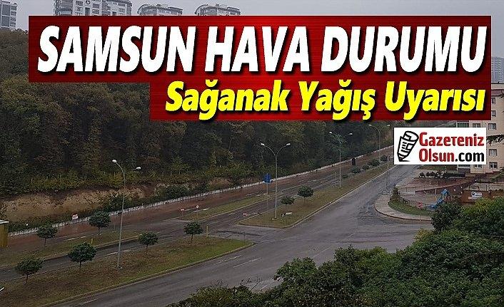 Samsun'da Sağanak Yağış Uyarısı