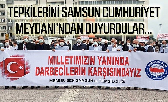 Samsun'dan yükselen ortak ses: Milletimizin yanında, darbecilerin karşısındayız