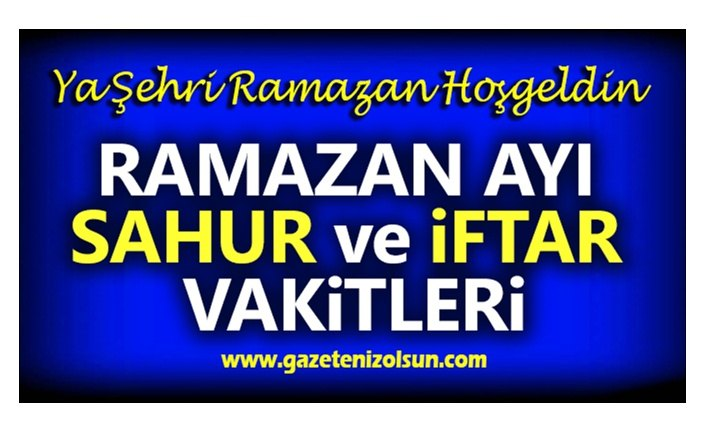 Samsun Sahur Vakitleri, Samsun'da Sahur Kaçta Bitiyor!