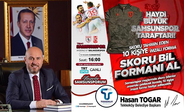 Tekkeköy Belediyesi'nden skoru bil formanı al