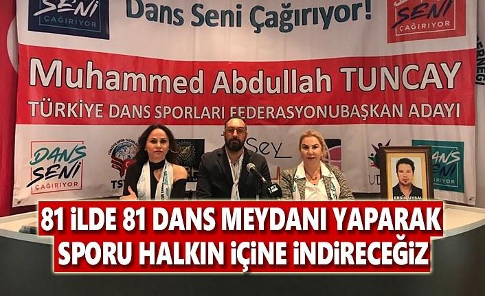 Türkiye Dans Federasyonu Başkan Adayı Muhammed Abdullah Tuncay basın toplantısı düzenledi