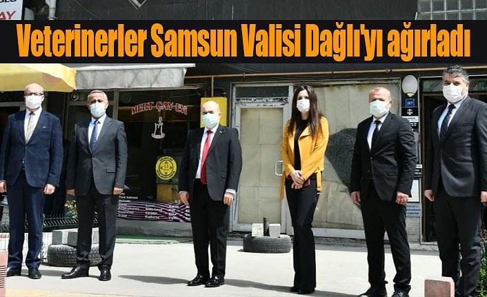 Veterinerler Samsun Valisi Dağlı'yı ağırladı