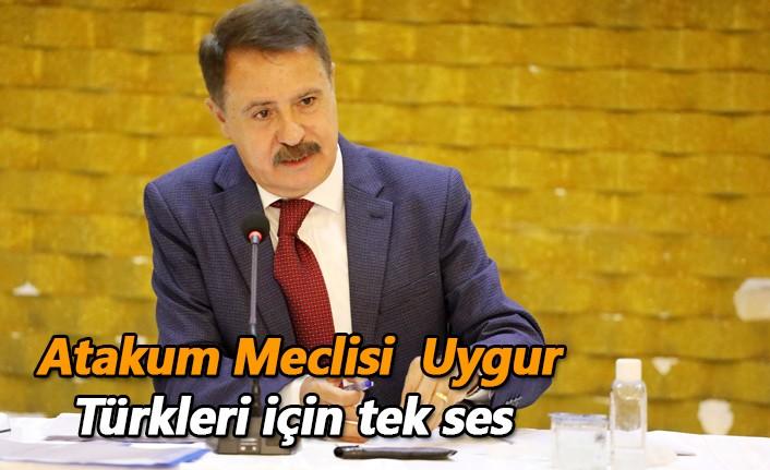 Atakum Meclisi  Uygur Türkleri için tek ses