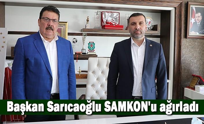 Başkan Sarıcaoğlu SAMKON'u ağırladı - Kavak Haber