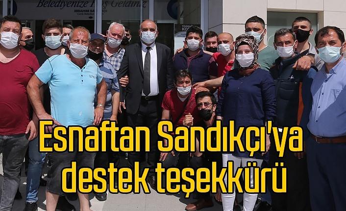 Pazar Esnafından Canik Belediye Başkanı İbrahim Sandıkçı'ya teşekkür