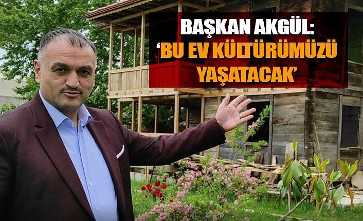 Salıpazarı Ahşap Kültür Evi'nin yapımı devam ediyor