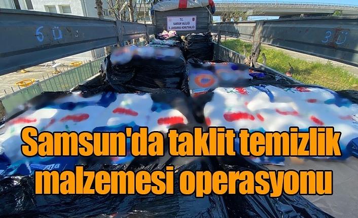 Samsun'da 11 bin ton taklit temizlik malzemesi ele geçirildi