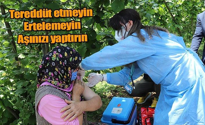 Samsun'da aşı çağrısı: Tereddüt etmeyin, Ertelemeyin