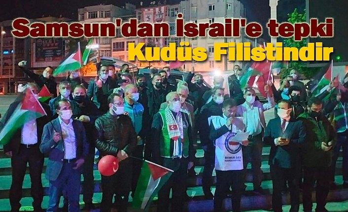 Samsun'dan İsrail'e tepki: Mescid-i Aksa barış dini İslamın ve Müslümanların mabedidir