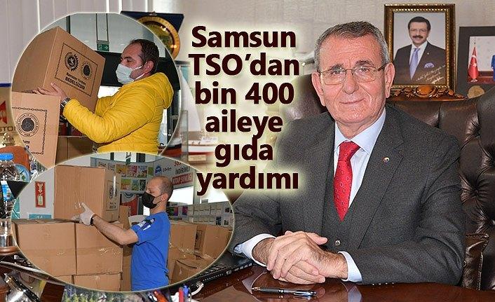 Samsun TSO'dan bin 400 aileye gıda yardımı