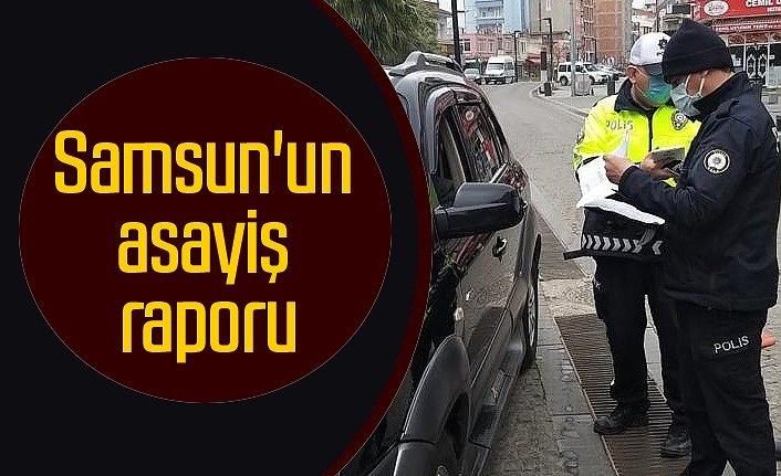 Samsun'un asayiş raporu : 4 bin 36 araç kontrol edildi
